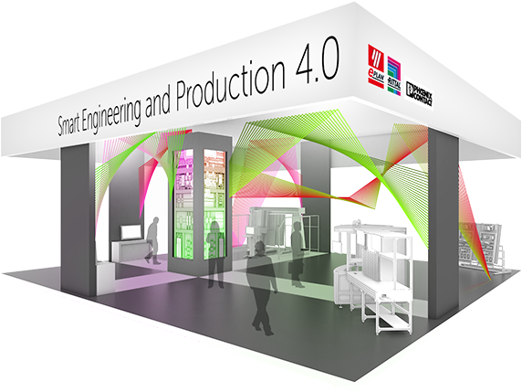 Industrie 4.0: Eplan, Rittal and Phoenix Contact - messestand